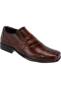 Sapato Social Masculino Leoppé Em Couro - Masculino-Marrom