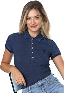 Camisa Polo Polo Ralph Lauren Slim Azul