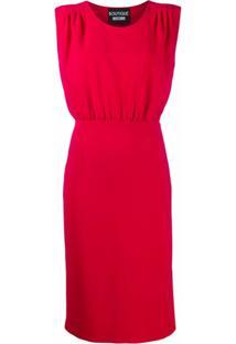 Boutique Moschino Vestido Com Cintura Franzida - Vermelho