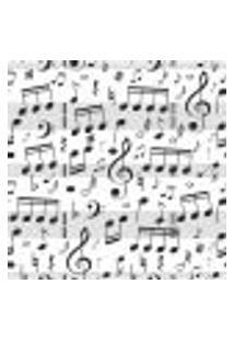 Papel De Parede Notas Musicais P&B