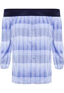 Camisa Feminina Ombro A Ombro - Azul