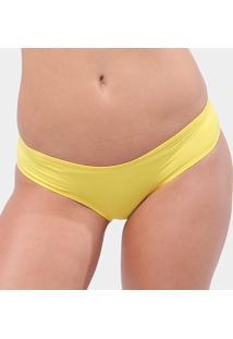 Calcinha Tanga Hipster Liz 80030 - Feminino-Amarelo