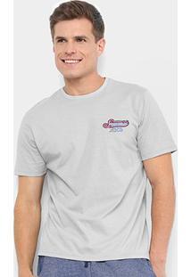 Camiseta Burn Vintage Masculina - Masculino-Cinza Claro