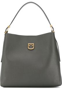 Furla Belvedere Hobo Shoulder Bag - Cinza