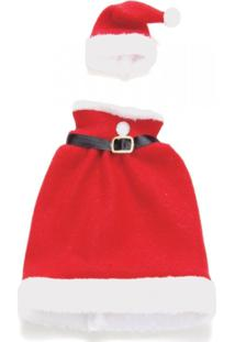 Enfeite Natal Decorativo Capa Para Garrafa Mamaãe Noel 2 Pçs