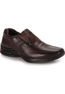 Sapato Conforto Masculino Jota Pe Air Life - Marrom