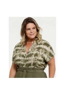Camisa Feminina Estampada Plus Size Marisa