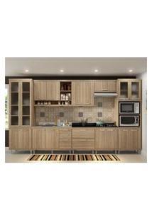 Cozinha Completa Multimóveis Com 8 Peças Sicília 5806 Argila/Argila