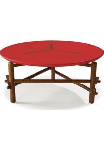 Mesa De Centro Twist Maxima Cacau/Vermelho