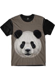 Camiseta Bsc Panda Sublimada Preto/Cinza