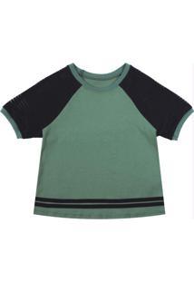 Blusa Com Punho E Detalhe De Tira Verde