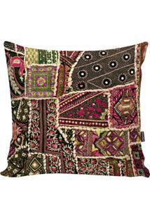Capa De Almofada Turkish- Preta & Pink- 42X42Cm-Stm Home