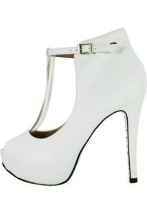 Peep Toe Week Shoes Open Boot Floter Branco