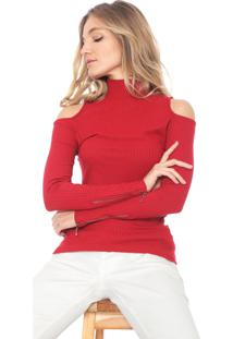 Blusa Ana Hickmann Off Shoulders Vermelha