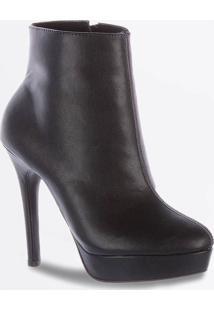 Bota Feminina Ankle Boot Meia Pata Salto Alto Zatz
