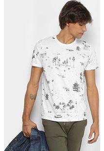 Camiseta Colcci Estampa Tropical Masculina - Masculino