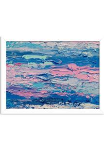 Quadro Decorativo Abstrato Moderno Azul Branco - Grande