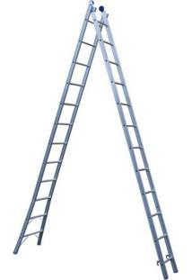 Escada Extensiva 5167 2 X 12 Em Alumínio, 24 Degraus, Capacidade 150 Kg - Mor