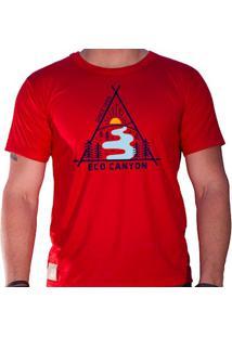 Camiseta Masculina Eco Canyon Draw Vermelho