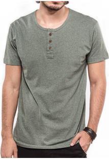 Camiseta Henley Verde 103301