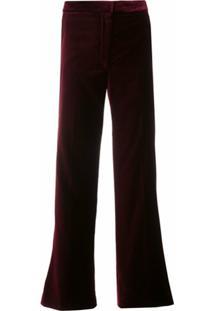 Stella Mccartney Calça Cropped Flare - Vermelho