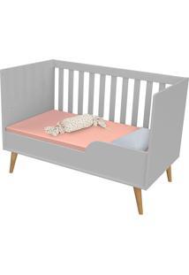 Dormitorio Ludmila Guarda Roupa 3 Portas Cômoda Fraldário Berço Cinza/Bétula Carolina Baby