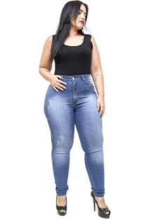 Calça Jeans Latitude Plus Size Skinny Monika Feminina - Feminino