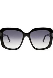 Óculos Íris Solar Livo Eyewear Feminino - Feminino-Preto