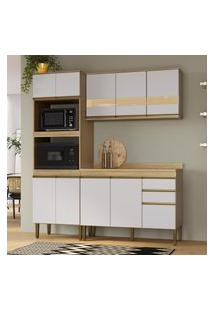 Cozinha Compacta Casablanca C/ Tampo Casa Mia A3491 Mel E Off White