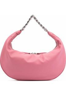 Staud Sasha Leather Shoulder Bag - Rosa