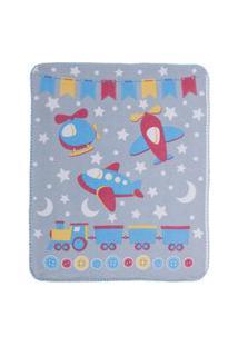 Cobertor Estampa Localizada Encanto - Aviões Bambi