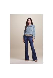 Calça Flare Jeans Destroyer