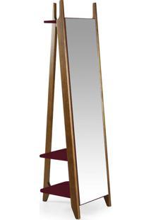 Espelho Stoka 169,5 Cm 988 Nogal/Bordo - Maxima
