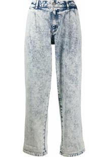 Michael Michael Kors Calça Jeans Cintura Média Com Lavagem - Azul