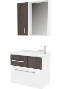 Gabinete Bertazoli Conjunto Para Banheiro Com Espelheira E Cuba Capri Carvalho