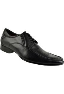 Sapato Social Couro Constantino Masculino - Masculino-Preto