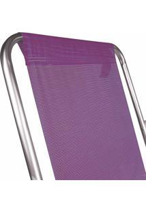 Cadeira Alta Alumínio Lilás Mor