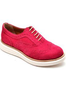 Sapato Oxford Mocassim Casual Rosa