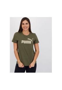 Camiseta Puma Ess Logo Feminina Verde