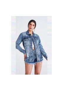 Maxi Jaqueta Jeans Express Alicia Azul