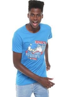 Camiseta Tectoy Sonic The Hedgehog Speed Azul