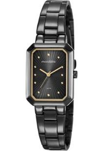 Relógio Mondaine Vintage 25Mm Aço Feminino - Feminino-Preto