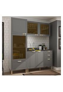 Cozinha Completa 3 Peças Americana Multimóveis 5901 Branco/Grafite