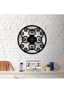 Escultura De Parede Wevans Mandala Rustica + Espelho Decorativo
