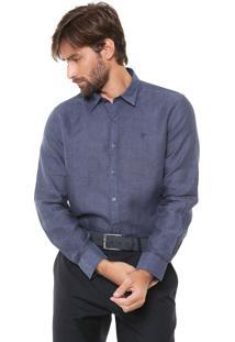 Camisa Ellus Reta Lisa Azul