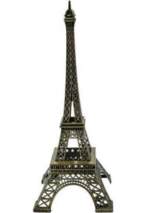 Enfeite Decorativo Torre Eiffel Pequeno Único Dour