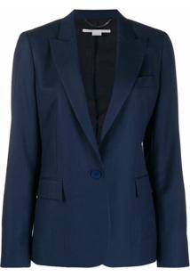 Stella Mccartney Blazer Com Abotoamento Simples - Azul
