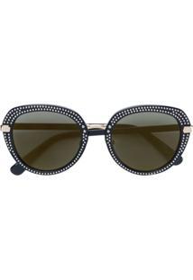 R  3945,00. Farfetch Óculos De Sol Jimmy Choo Haste Feminino Preto ... 23400f0579
