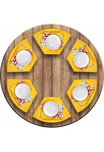 Jogo Americano Love Decor Para Mesa Redonda Wevans Cute Noel Yellow Kit Com 6 Pçs - Kanui