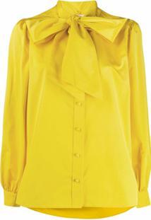 Tory Burch Blusa Com Detalhe De Laço - Amarelo